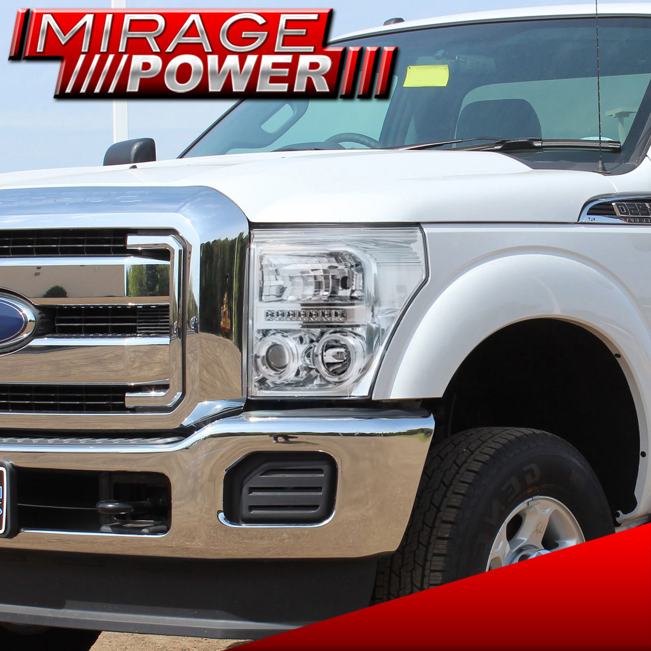 Ford F250 F350 F450 2011-2016 Super Duty Chrome Projector