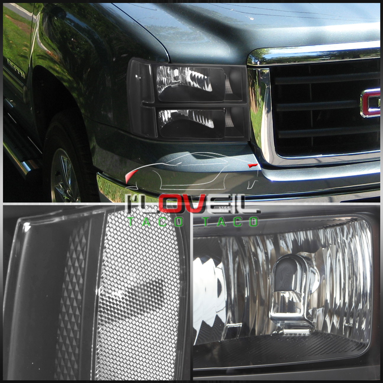 2007 2013 gmc sierra 1500 3500 black housing replacement. Black Bedroom Furniture Sets. Home Design Ideas