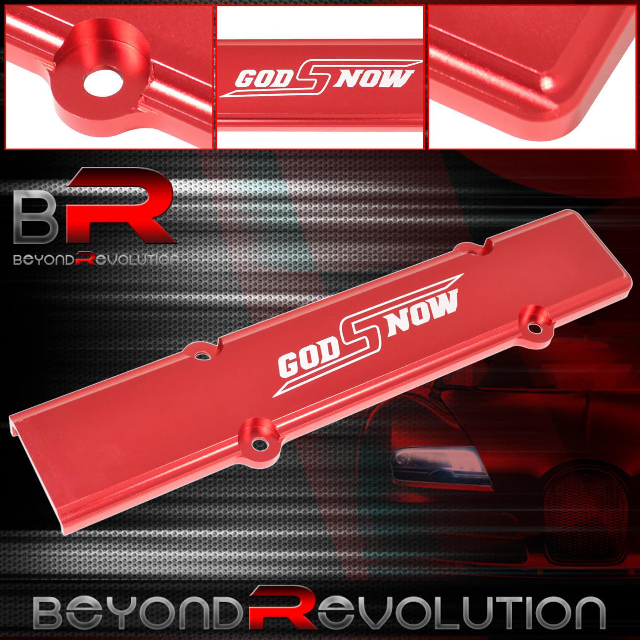Red Aluminum Spark Plug Wire Cover B-Series For Honda