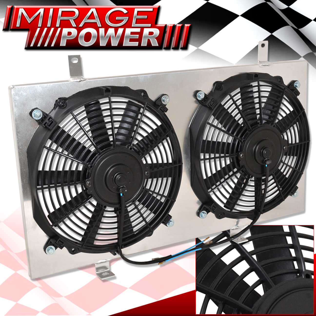 "JDM 12"" Aluminum Radiator Cooling Blade Fan Shroud For Acura Integra Manual"