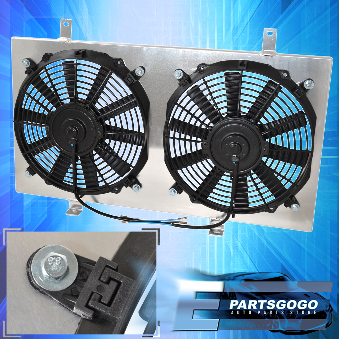 "For Nissan 240Sx Sr20 Manual Aluminum Radiator Dual 12"" Fan Fans Shroud Kit  | eBay"
