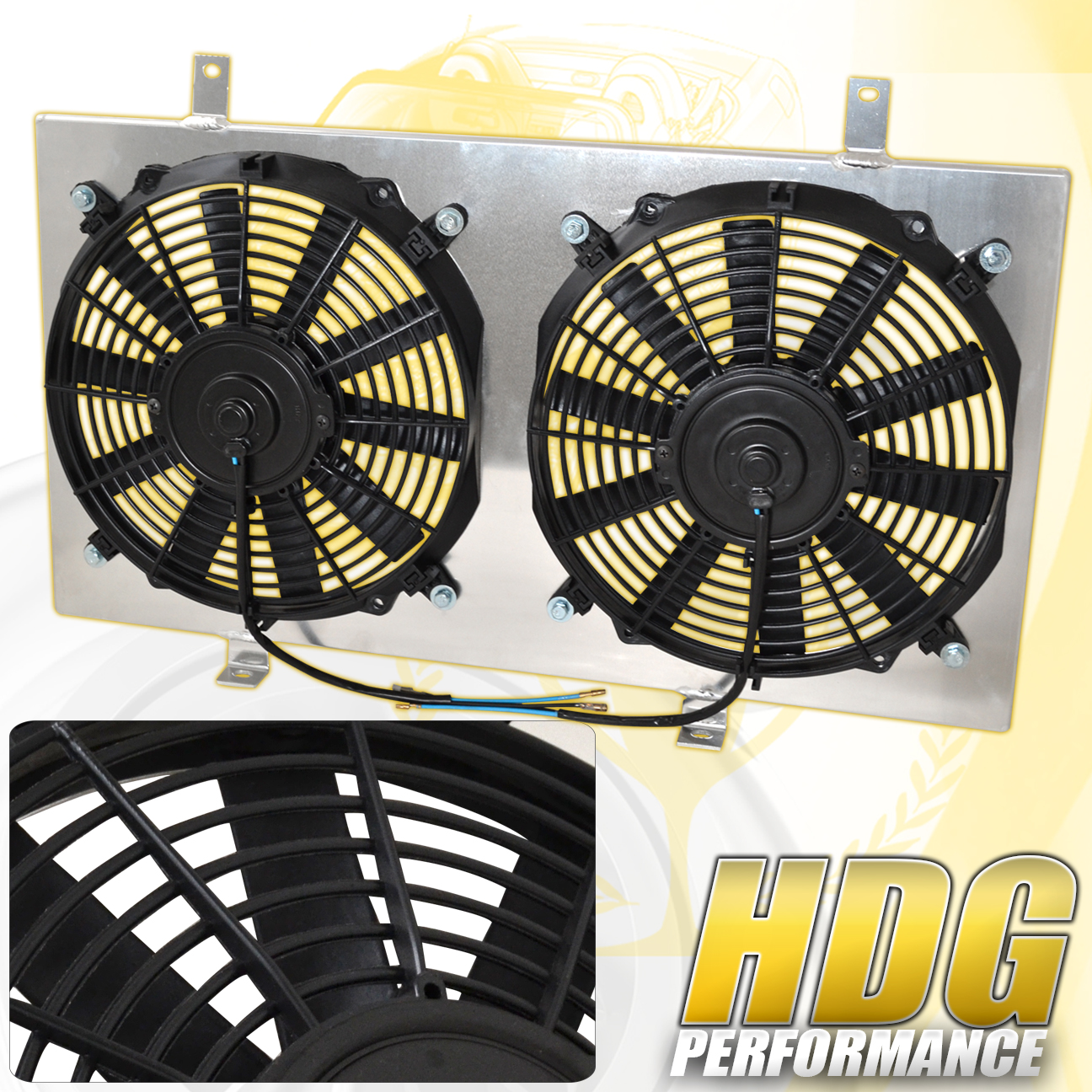 For 89-94 Nissan 240SX S13 CA18 Manual MT Cooling Fan Radiator Shroud Cover  Kit