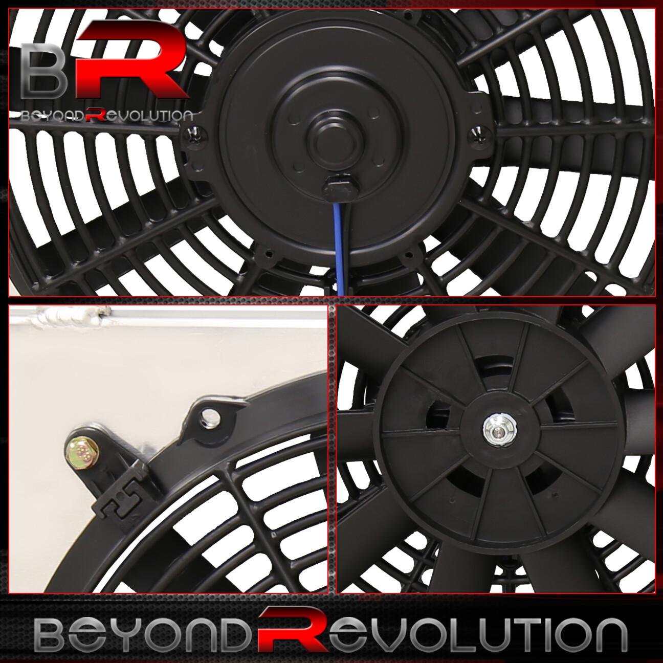 """For 97-01 Honda Prelude 94-97 Accord 12"""" Dual Fan Radiator"""