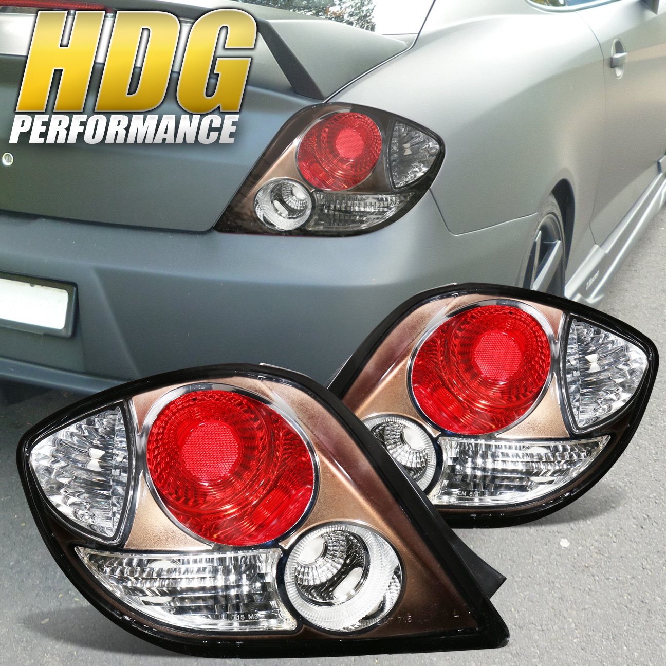 Details About For 2003 2005 Hyundai Tiburon Jdm Rare Anium Housing Tail Light Replacement