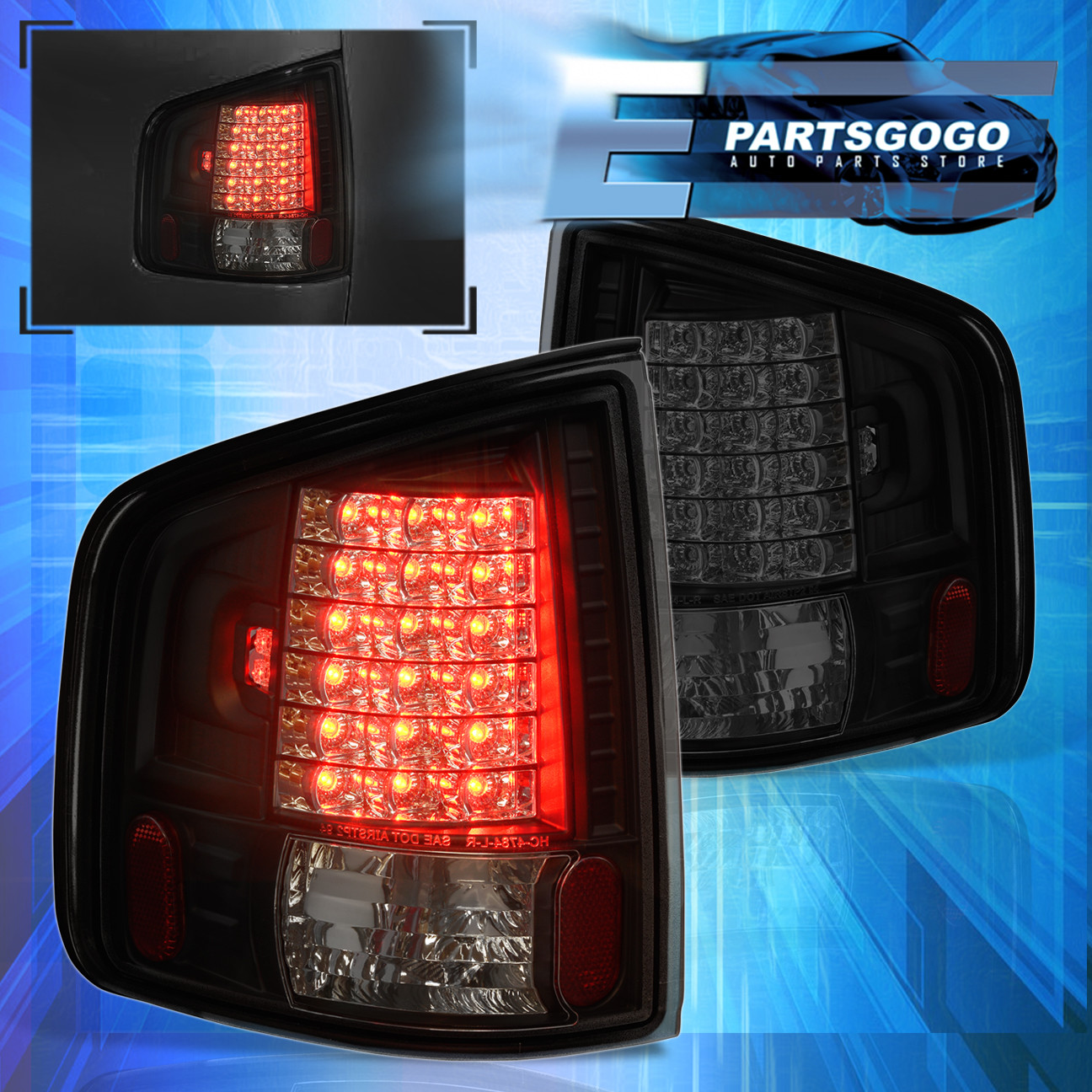Details About 1994 2004 Chevy S10 Sonoma Smoked Lens Red Led Tail Lights Replacement
