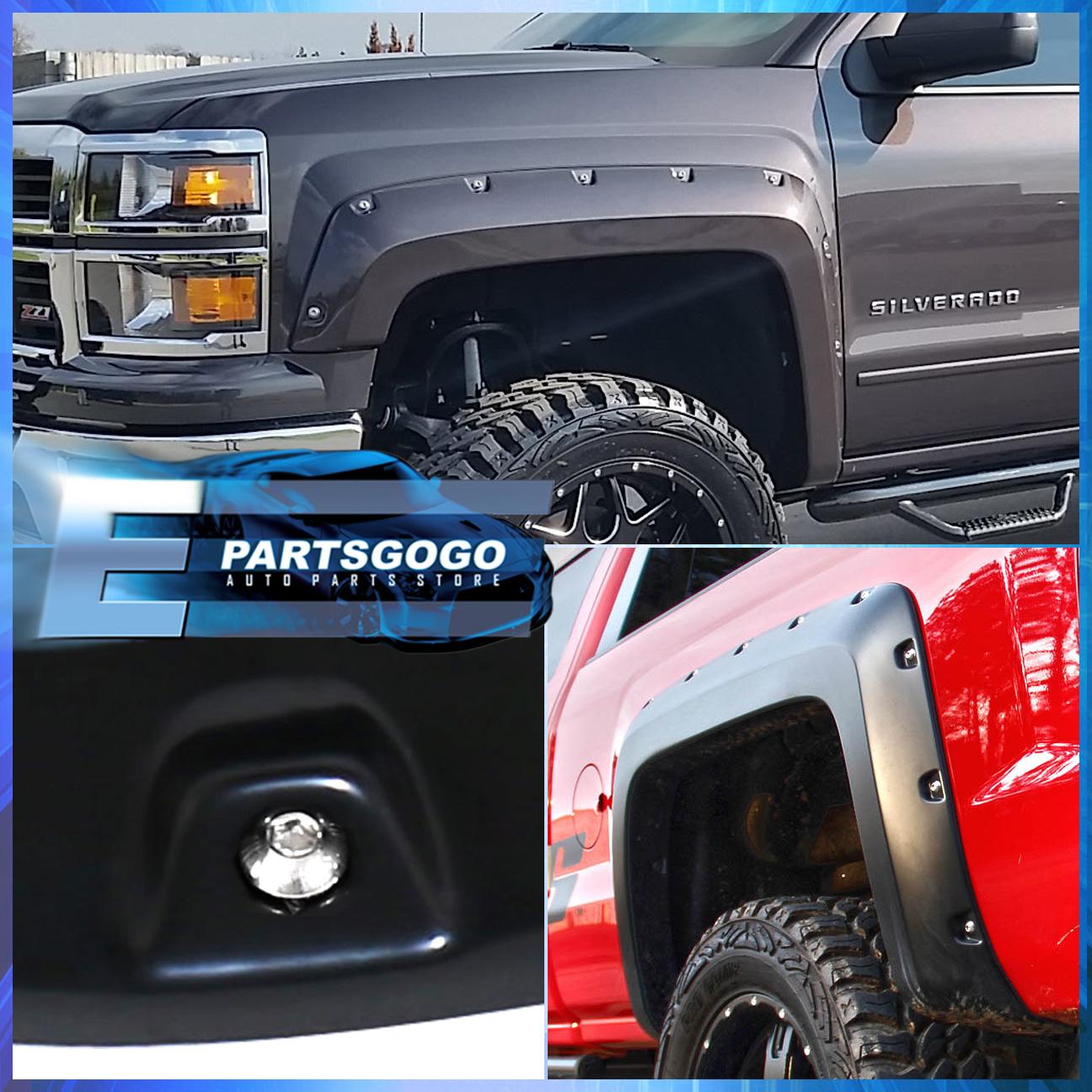 Silverado 2003 chevy silverado fender flares : 2014-2016 Silverado Pickup Paintable Pocket Rivet Style Wheel Well ...