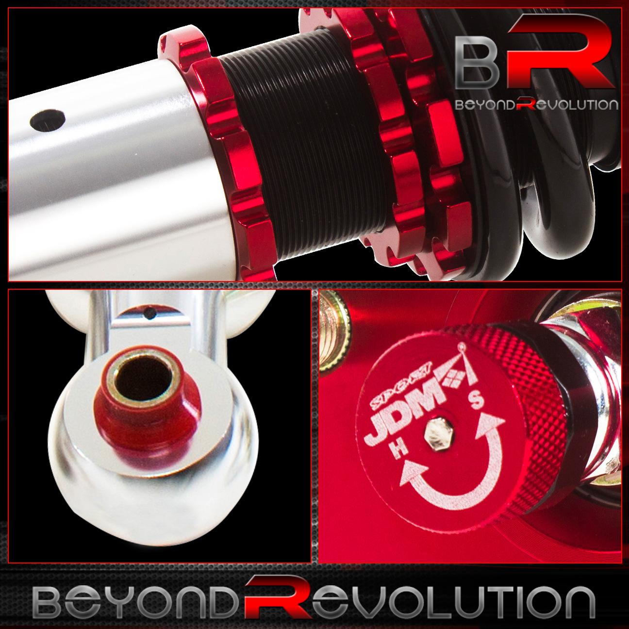 2004-2008 Acura Tl Jdm Sport Red/Black Full Adjustable