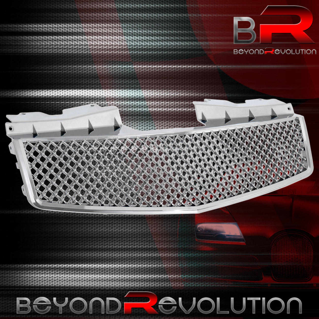 Chrome Mesh Grille For 2003 2004 2005 2006 2007 Cadillac