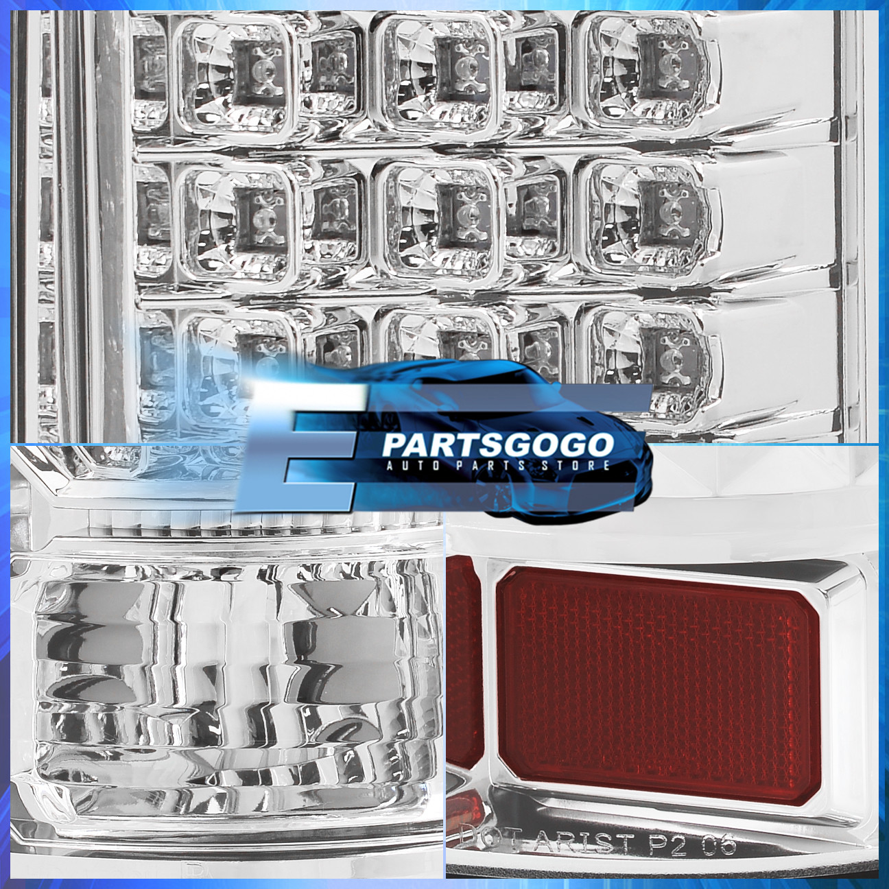 for 04 08 ford f150 styleside led tail lights lamp chrome. Black Bedroom Furniture Sets. Home Design Ideas