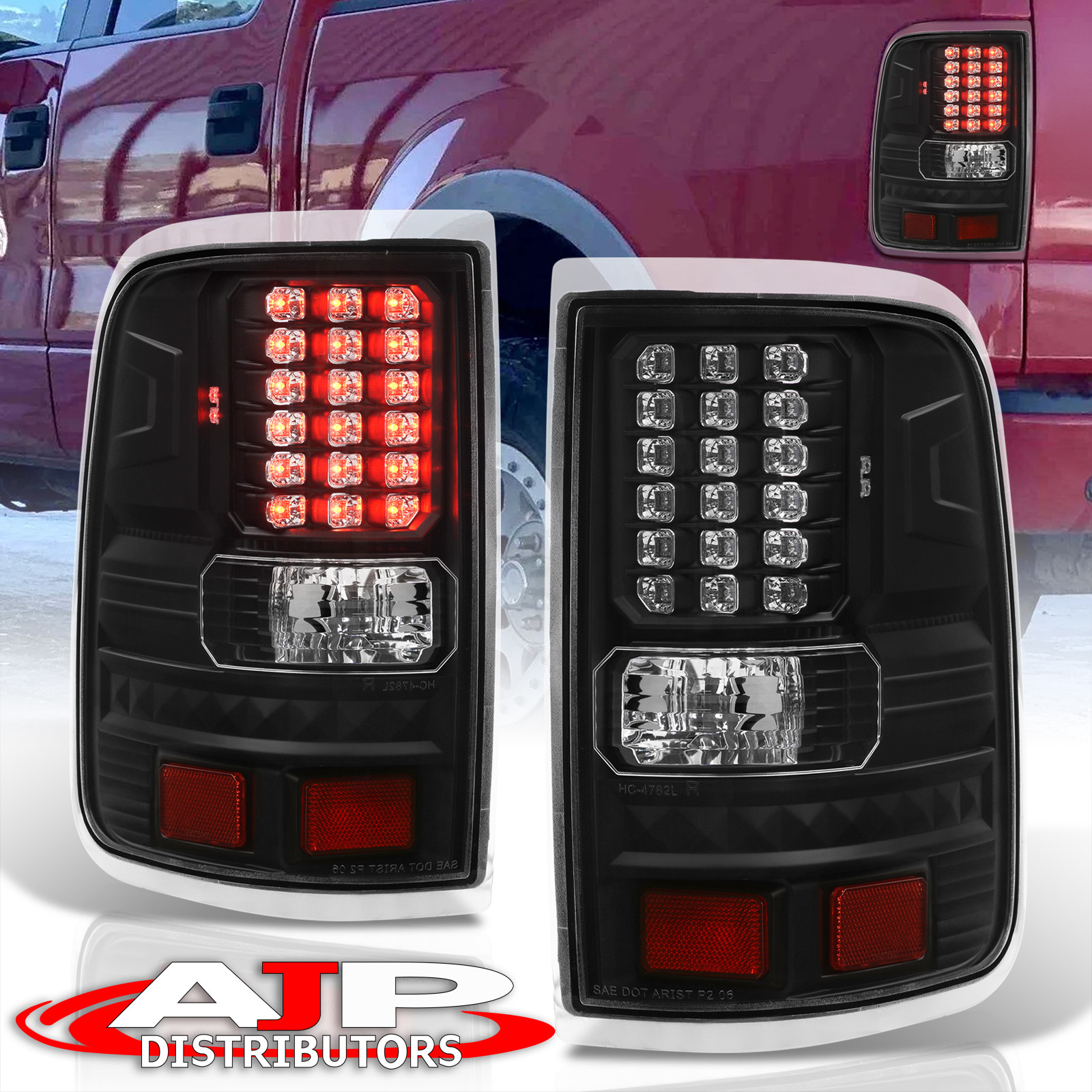 For 2004-2008 FORD F-150 TAIL LIGHTS LED STYLE ALL CHROME PAIR LH+RH