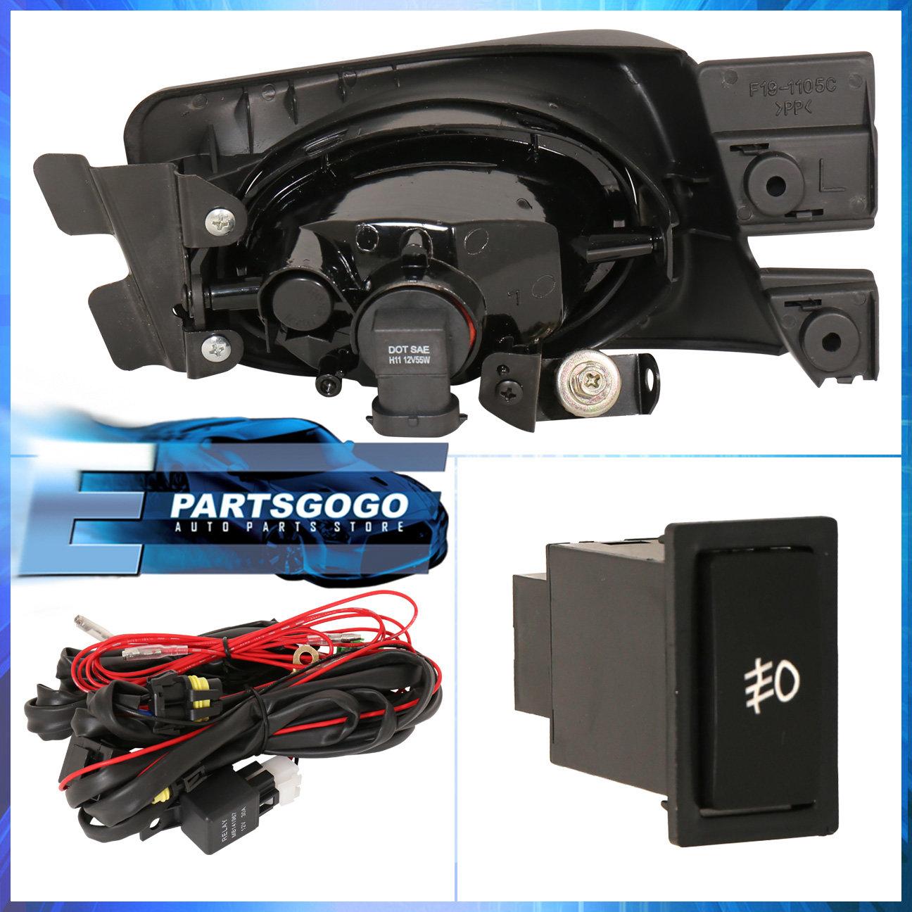 For 2003 2005 Honda Accord Sedan 4 Door Jdm Fog Light Amber Lamp Wiring Harness 03 Ex Assembly Kit