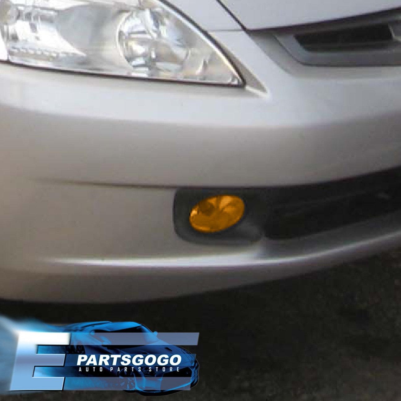 For 2003-2005 Honda Accord Sedan 4 Door Jdm Fog Light Amber Lamp Assembly  Kit