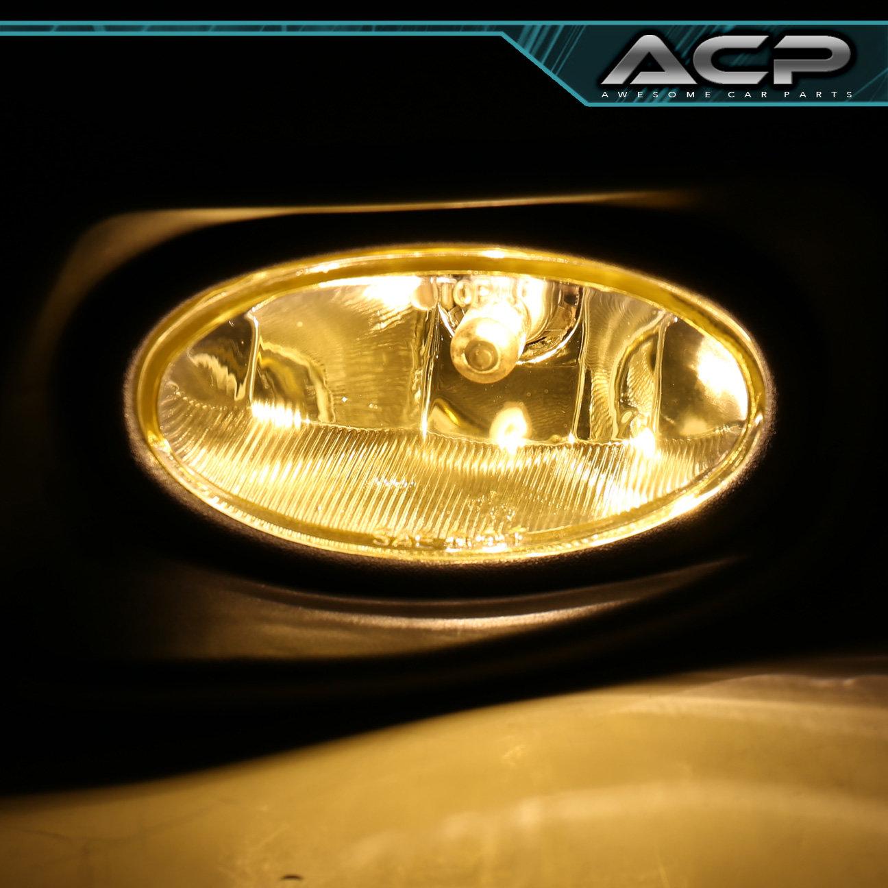 Yellow Lens Fog Lights Kit W Switch Wiring Harness For 03 05 Car 87 Honda Accord Sedan