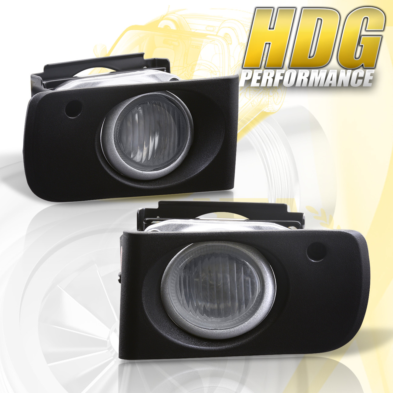 Fits 1994-1997 Acura Integra Clear Bumper Fog Light Lamp w//Switch+Harness+Bezel