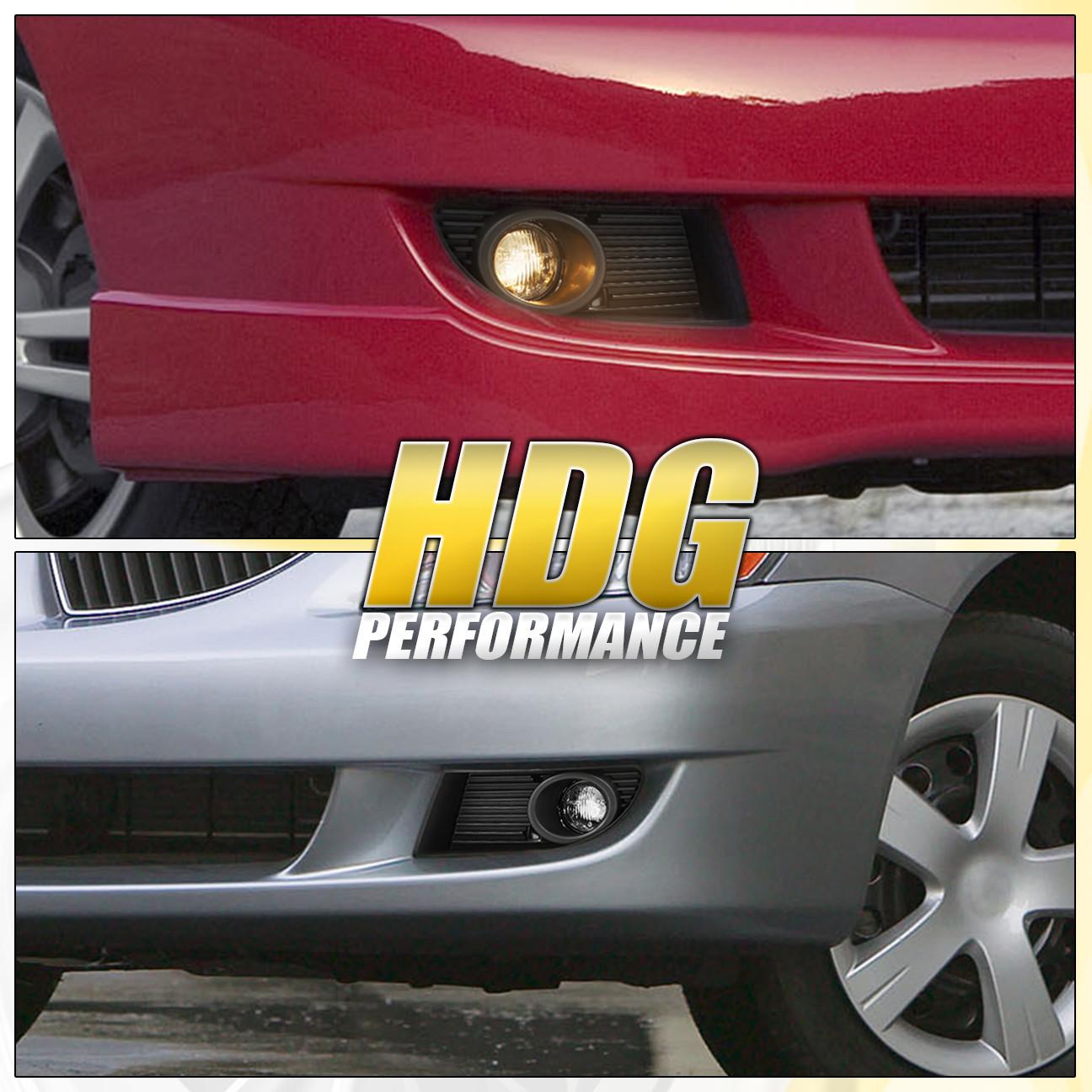 04-06 Mitsubishi Lancer Chrome Clear Driving JDM Bumper Fog Light Lamp Harness