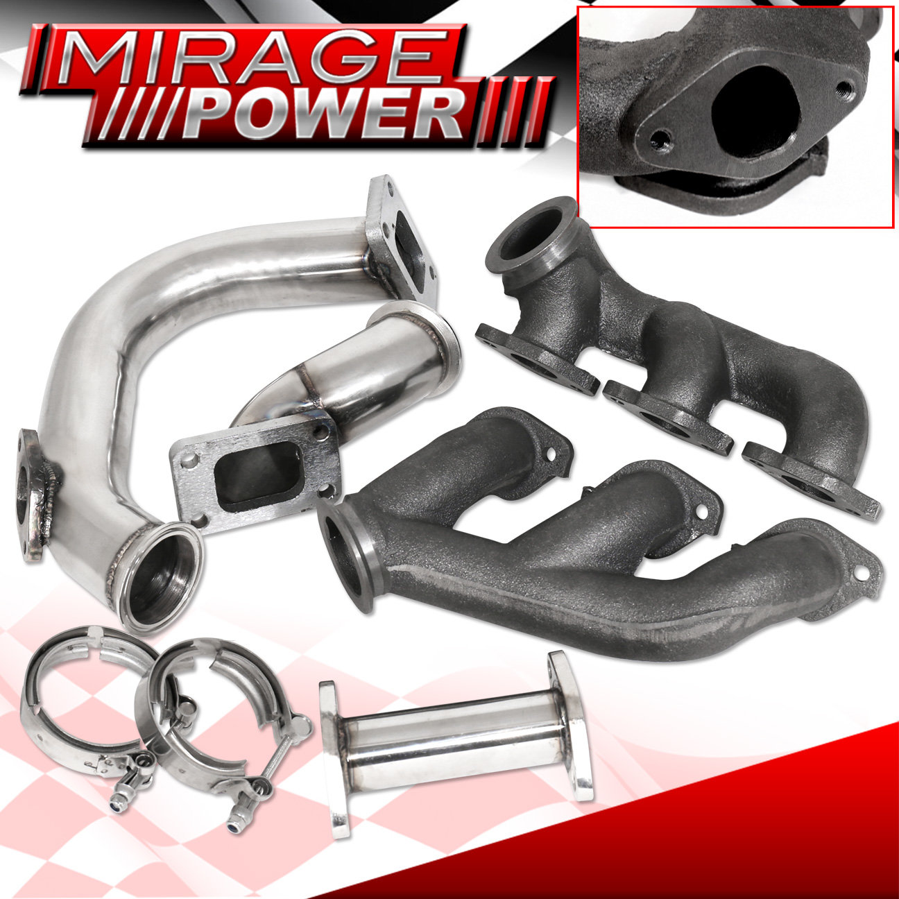 94-97 Mustang 3.8L Twin Turbo Cast Iron Manifold