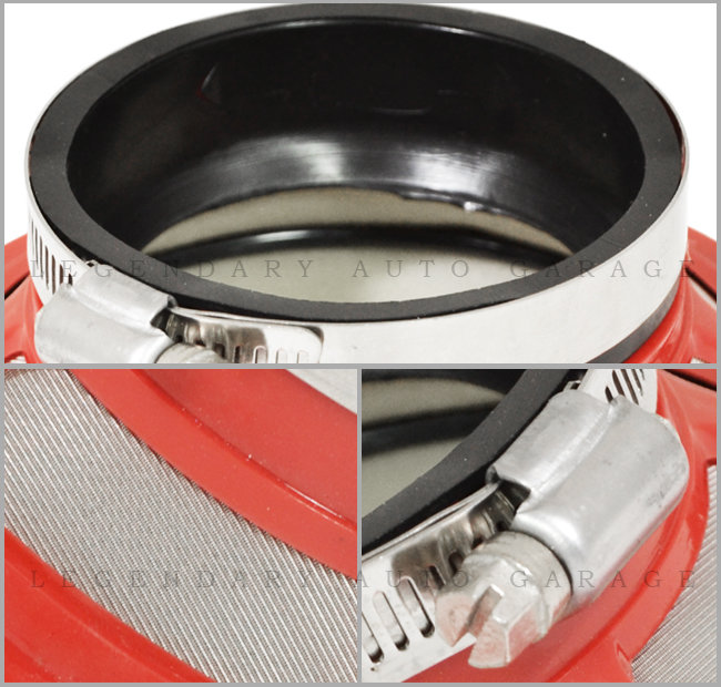 2.5/'/' Air Bypass Valve Intake Ram Filter 63.5 mm Red Racing Universal Turbo