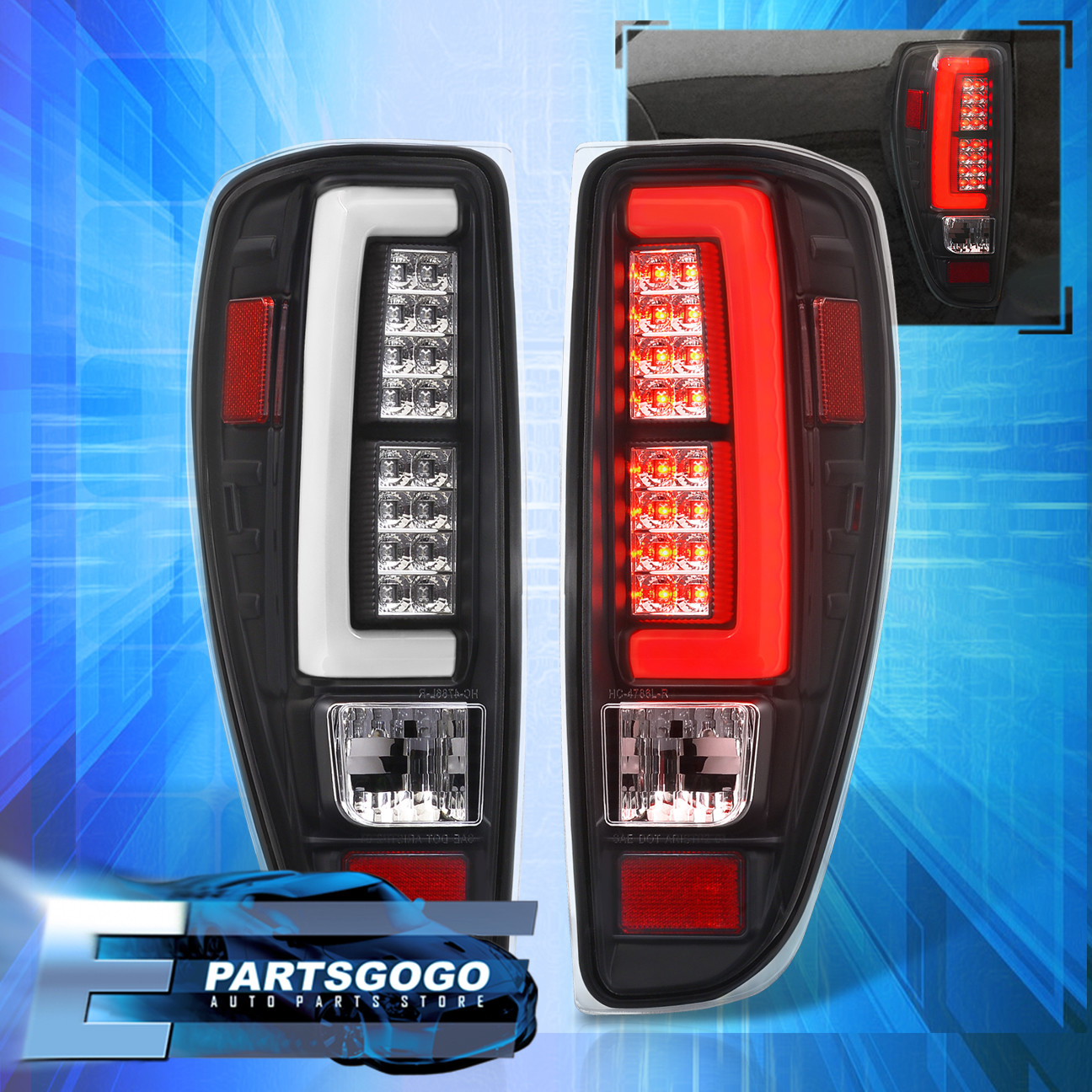 Details About 2004 2017 Colorado Canyon Led Tail Lights Black Housing Clear Lens Lamps