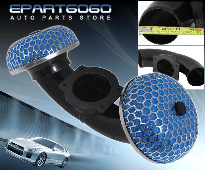 "Dual Short Ram Air Intake For 90-96 300Zx Z32 Twin Turbo 3/"" Blue Mushroom Filter"