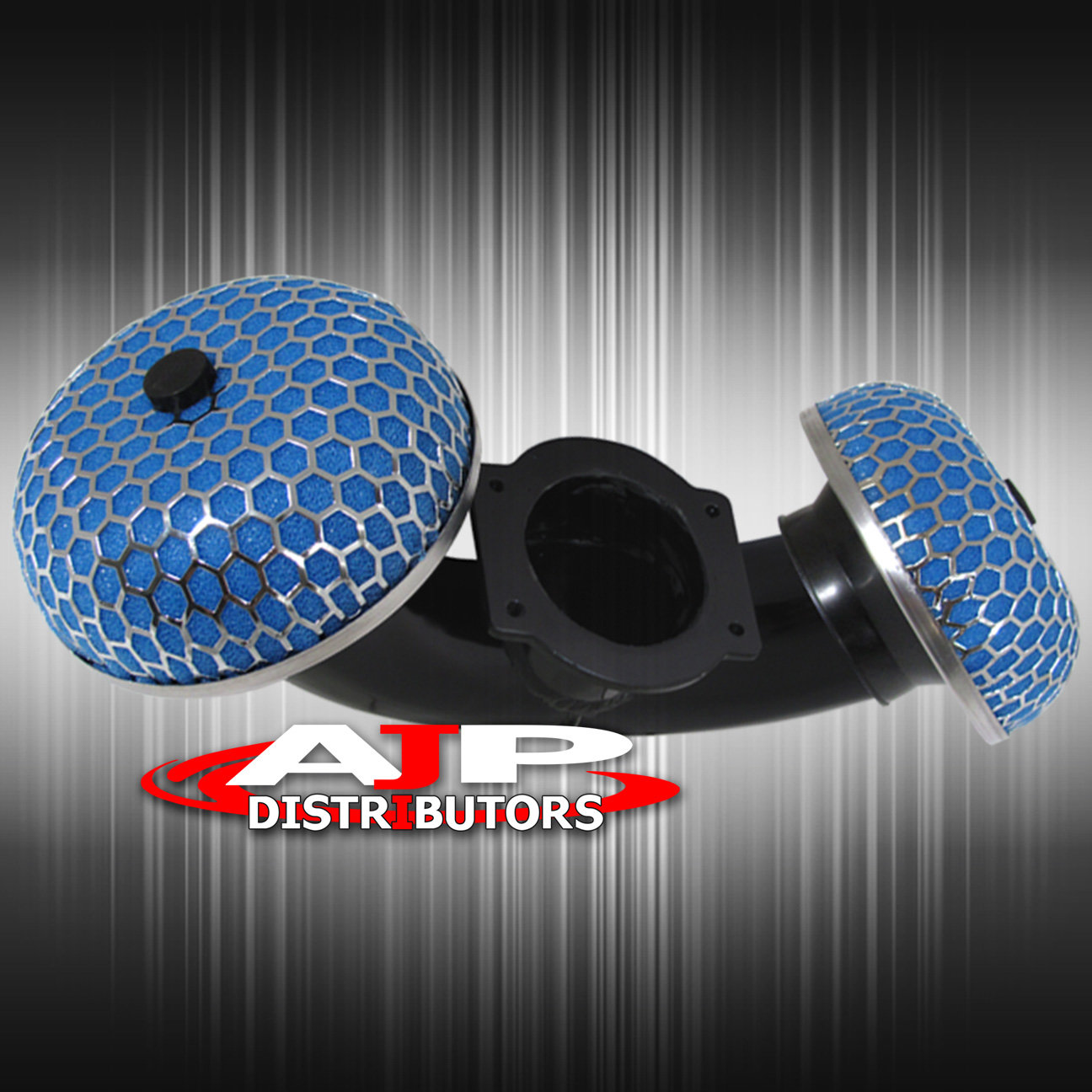 "Dual Short Ram Air Intake For 90-96 300Zx Z32 Twin Turbo 3/"" Blue Mushroom Filter"
