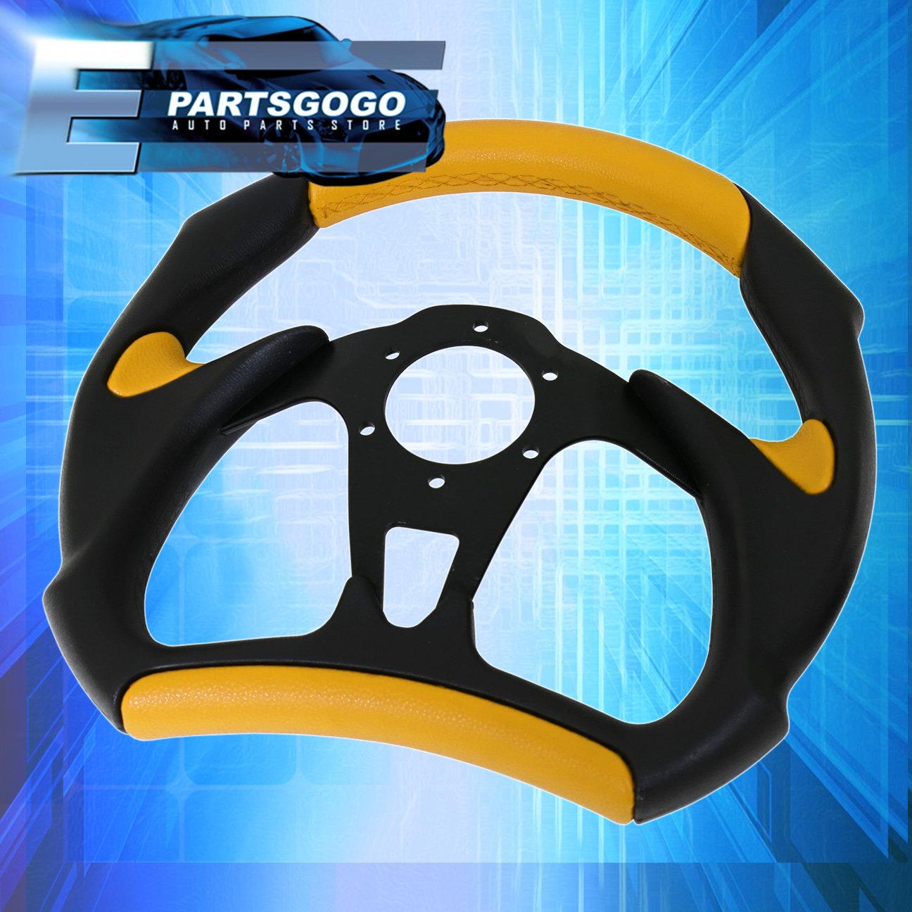 Hub For 90-97 Miata Gold Quick Release Godsnow Black Yellow Steering Wheel