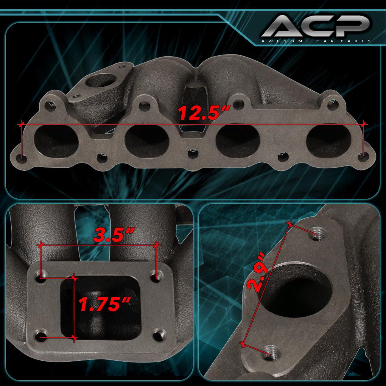 88-00 Civic D-Series SOHC D15 D16 Iron Cast Turbo Exhaust