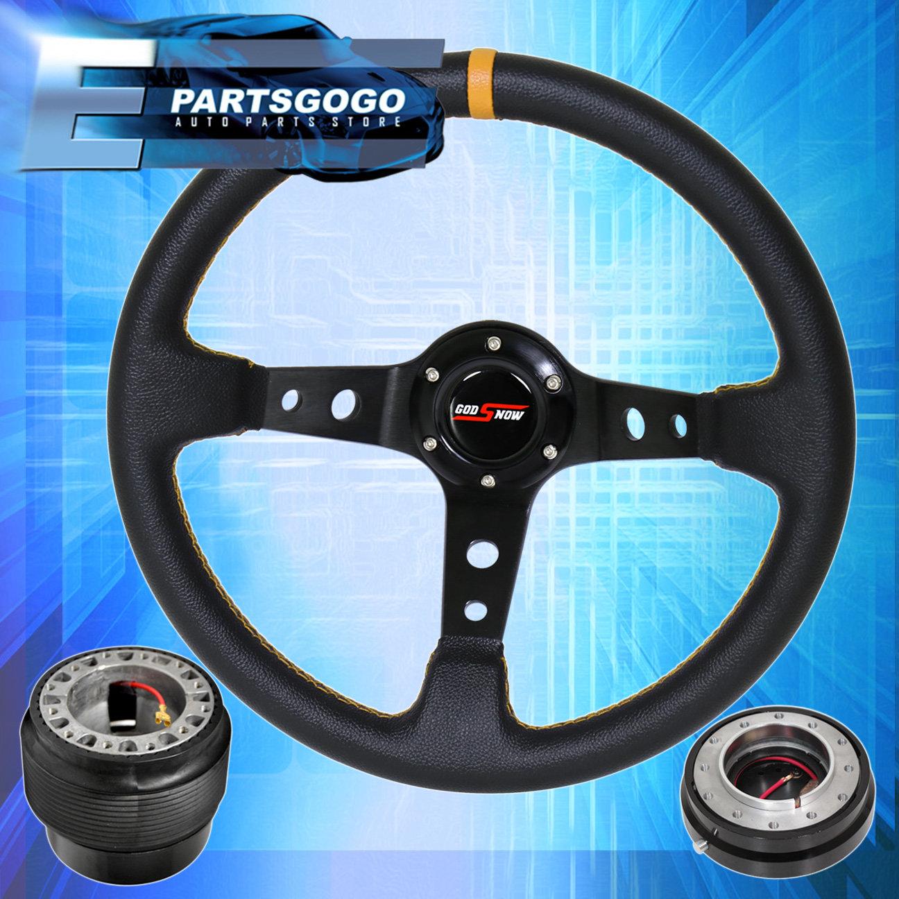 Honda Godsnow Trim Fram 320Mm Steering Wheel Bk//Blue+Hub+Quick Release Red