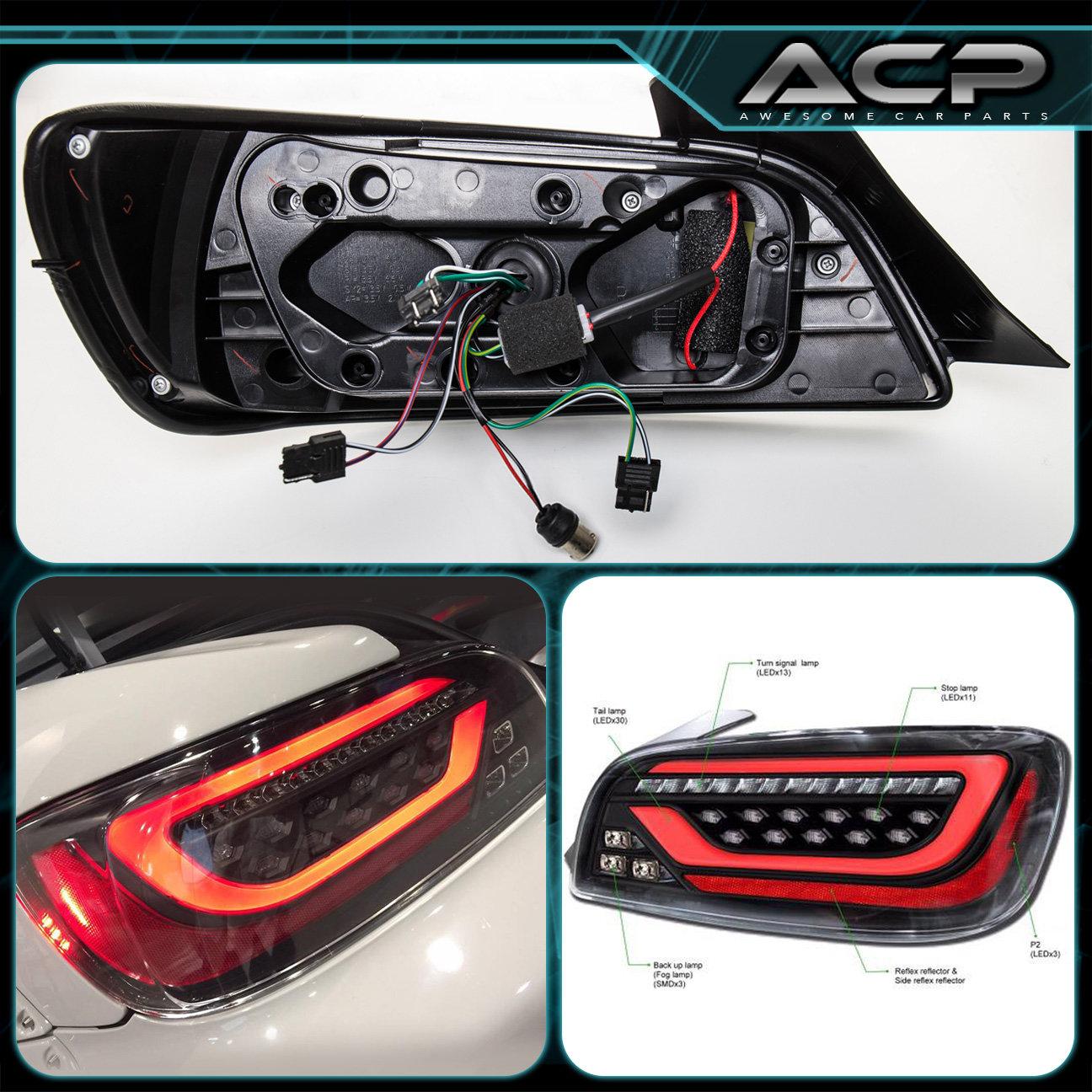 Depo Black Housing Clear Lens Led Tail Lights Assembly For 00-09 S2000 Ap1 Ap2 | eBay
