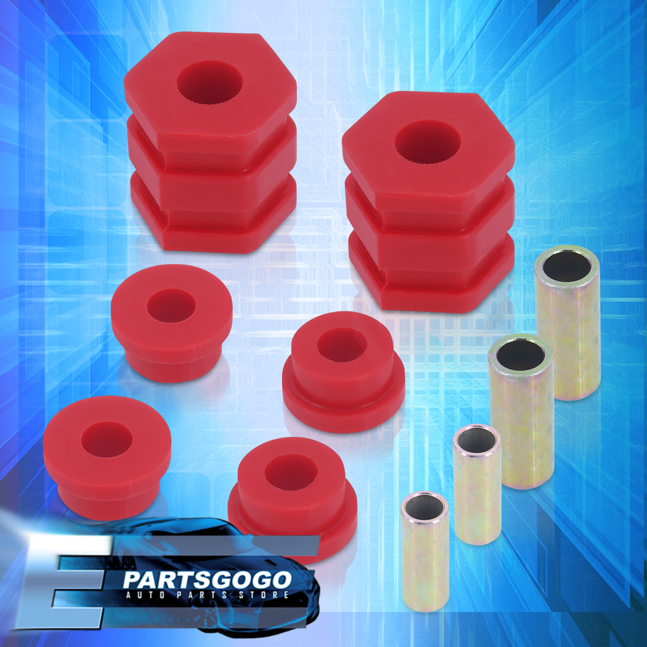 Fit 1996-2000 Honda Civic Polyurethane Front Lower Control Arm Bushing Kit Red