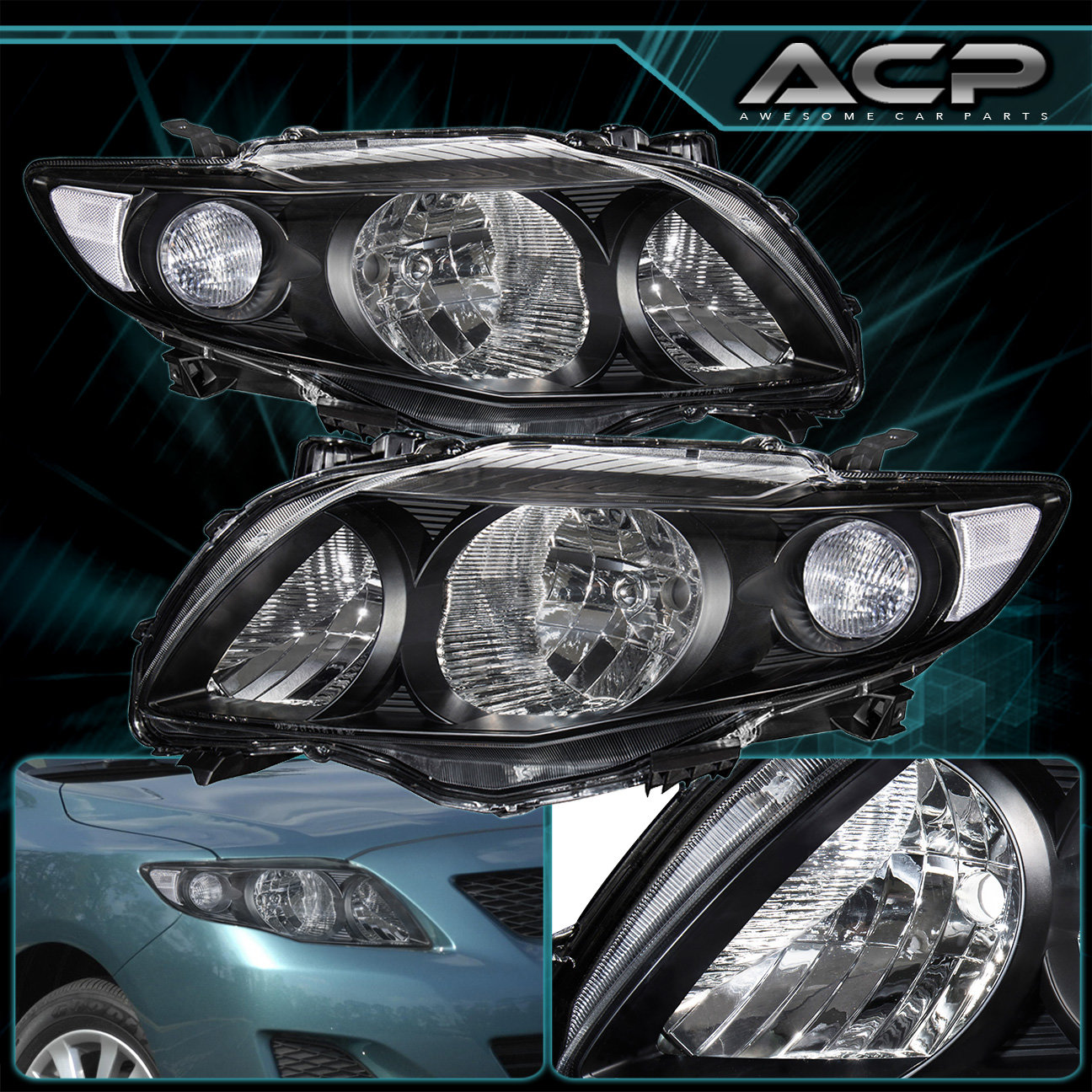 2010 toyota corolla headlight assembly replacement