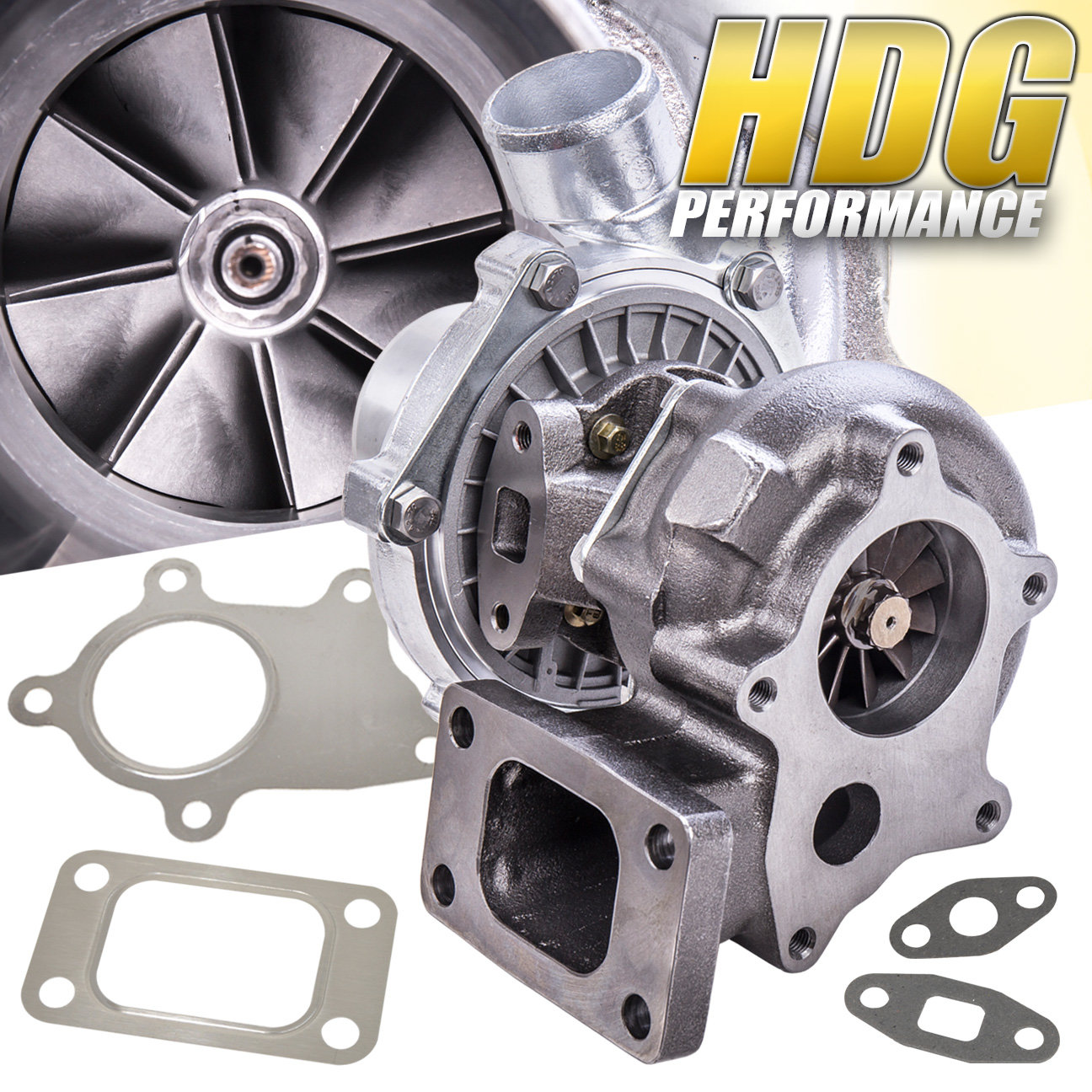 JDM T3//T4 Hybrid Turbo Charger .50 A//R Compressor 0.63 A//R Turbine Wheel