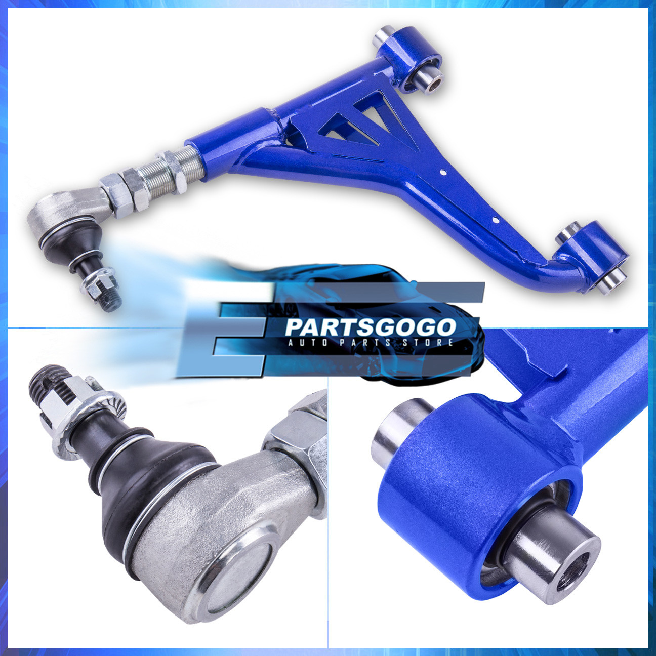 For 98-05 Gs300 Gs400 Gs430 01-05 Is300 Rear Upper Pillowball Camber Kit Blue