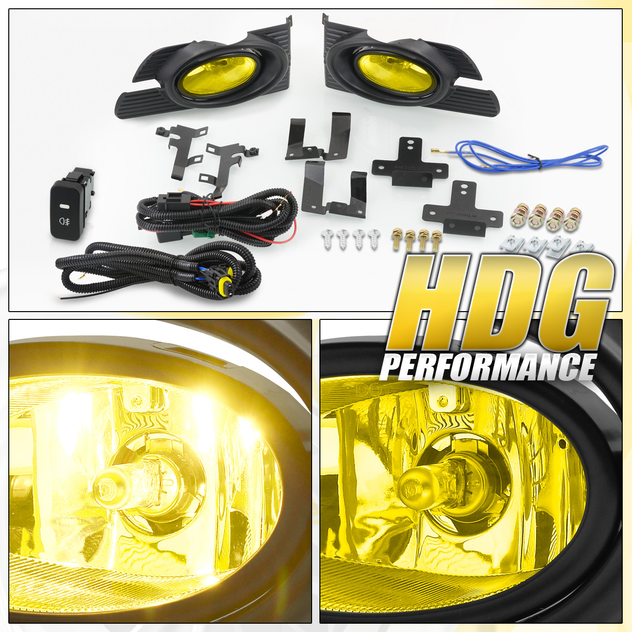 Yellow Fog Lights Bumper Lamps For 2001 2002 Honda Accord Sedan 4dr Light Switch Diagram Wiring