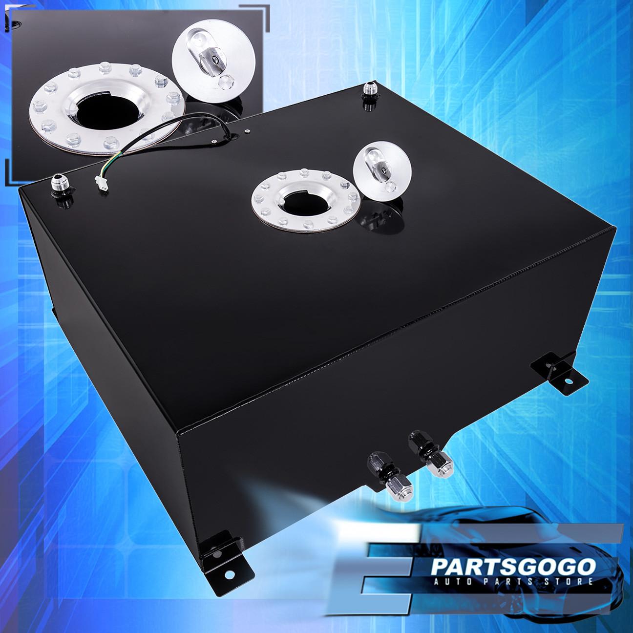 Details about 21 Gallon / 80 Liter Black Aluminum Chrome Cap Fuel Cell Tank  With Gauge Sender