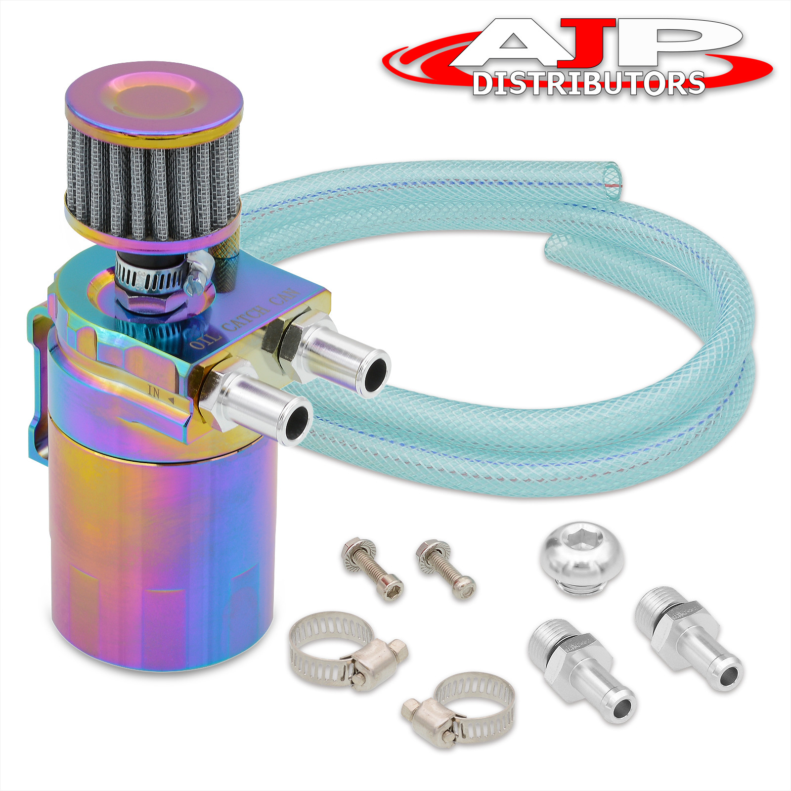 Dipstick Universal Neo Chrome Oil Catch Can Reservoir 200ML Breather Filter