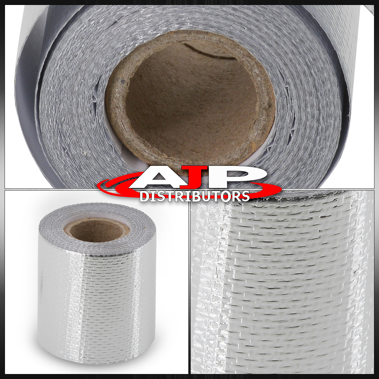 """2/""""x15/' Self Adhesive Reflect Silver Heat Wrap Barrier Protection Tape 15 Feet"""