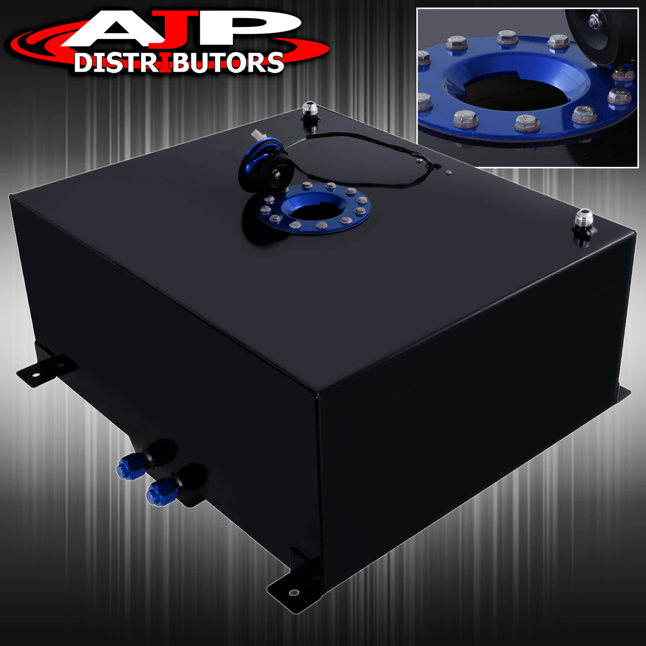 21 Gallon Black Aluminum Fuel Cell Tank With Gauge Sender Blue Cap 80 Liter