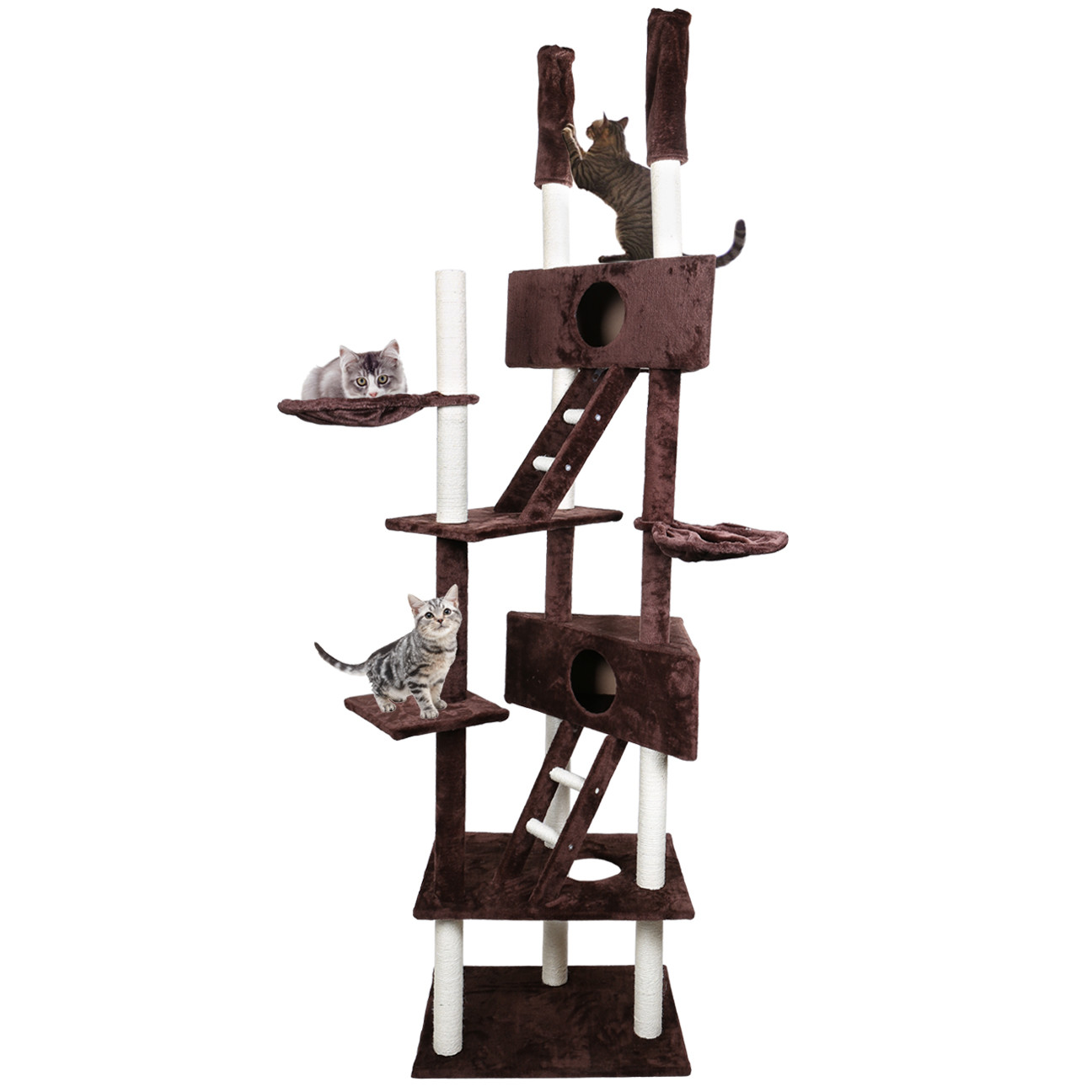 "Home Gym Furniture: 110"" Cat Tree Condo Furniture Scratch Post Pet Play House"