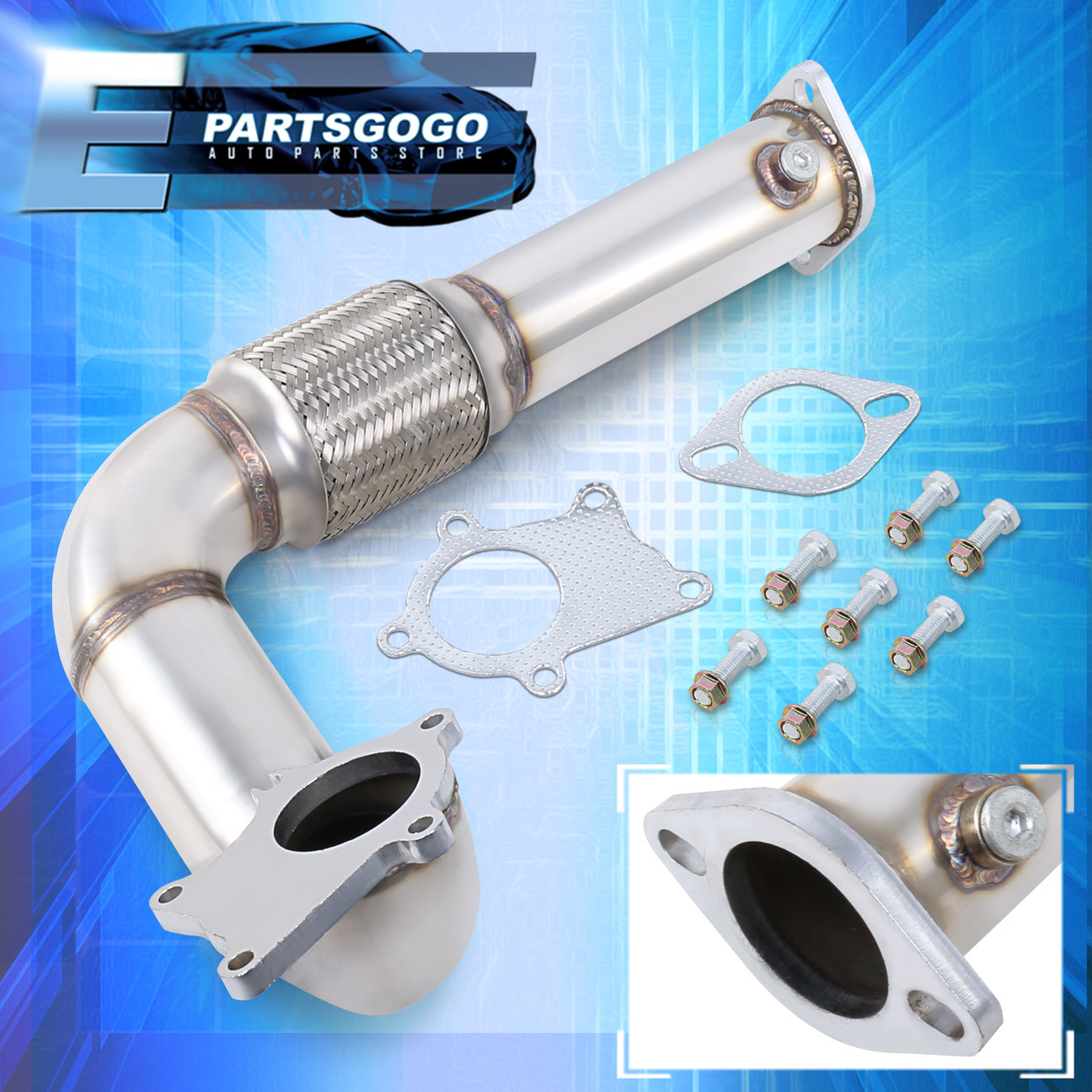 Details about Stainless Steel Racing Turbo Down Pipe For Honda Civic Acura  Integra B16 B18 D16