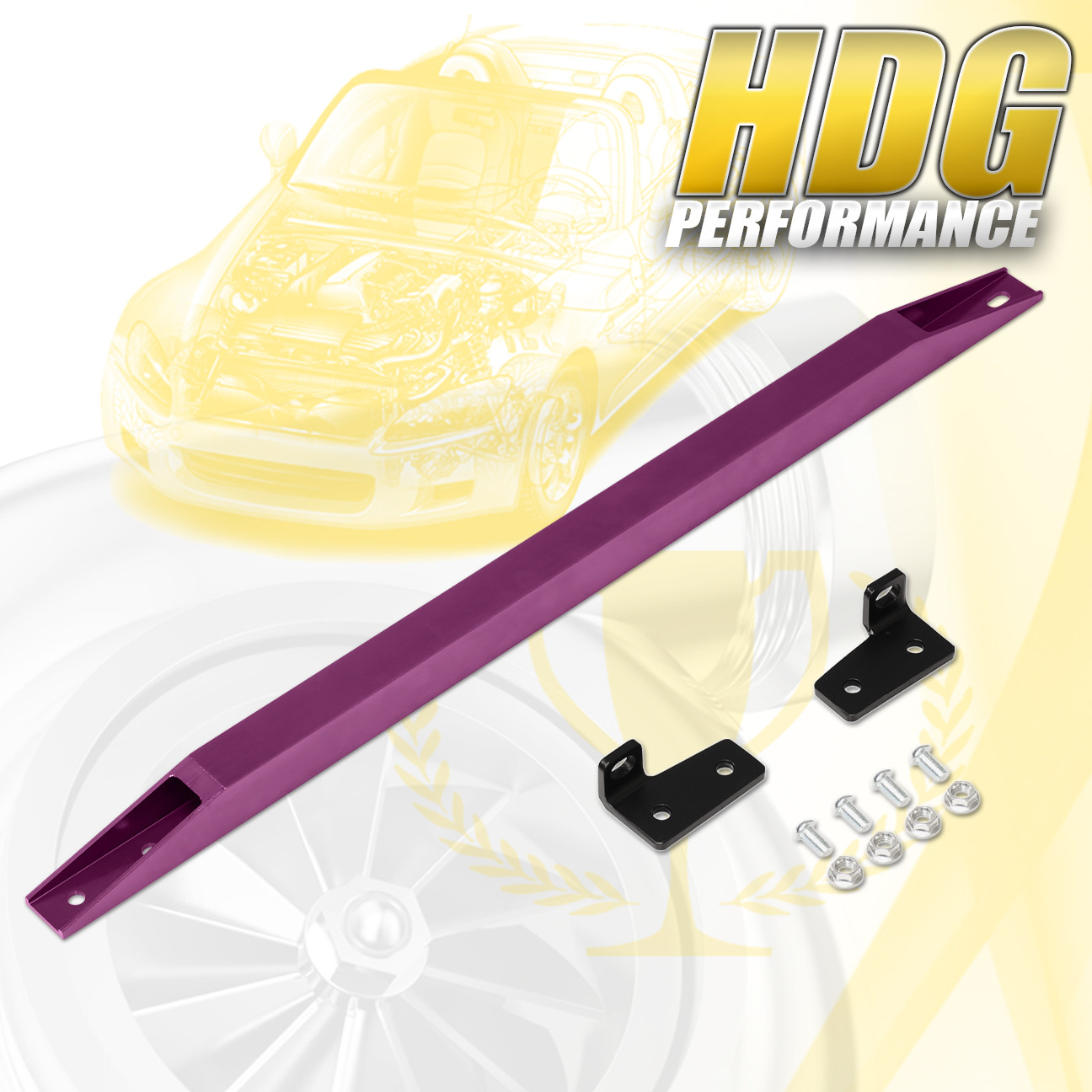 JDM Rear Aluminum Suspension Subframe Brace Tie Bar Honda DelSol 1993-1997 Purpl