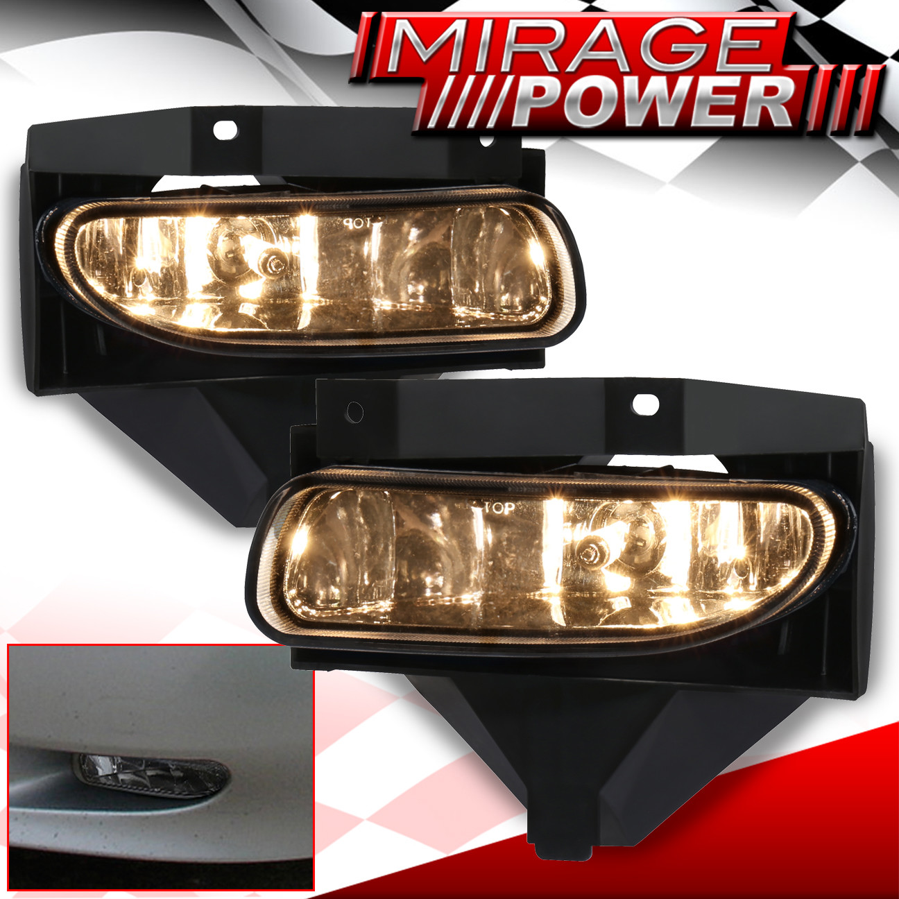 Front Bumper Clear Fog Lights For 1999 2000 2001 2002 2003