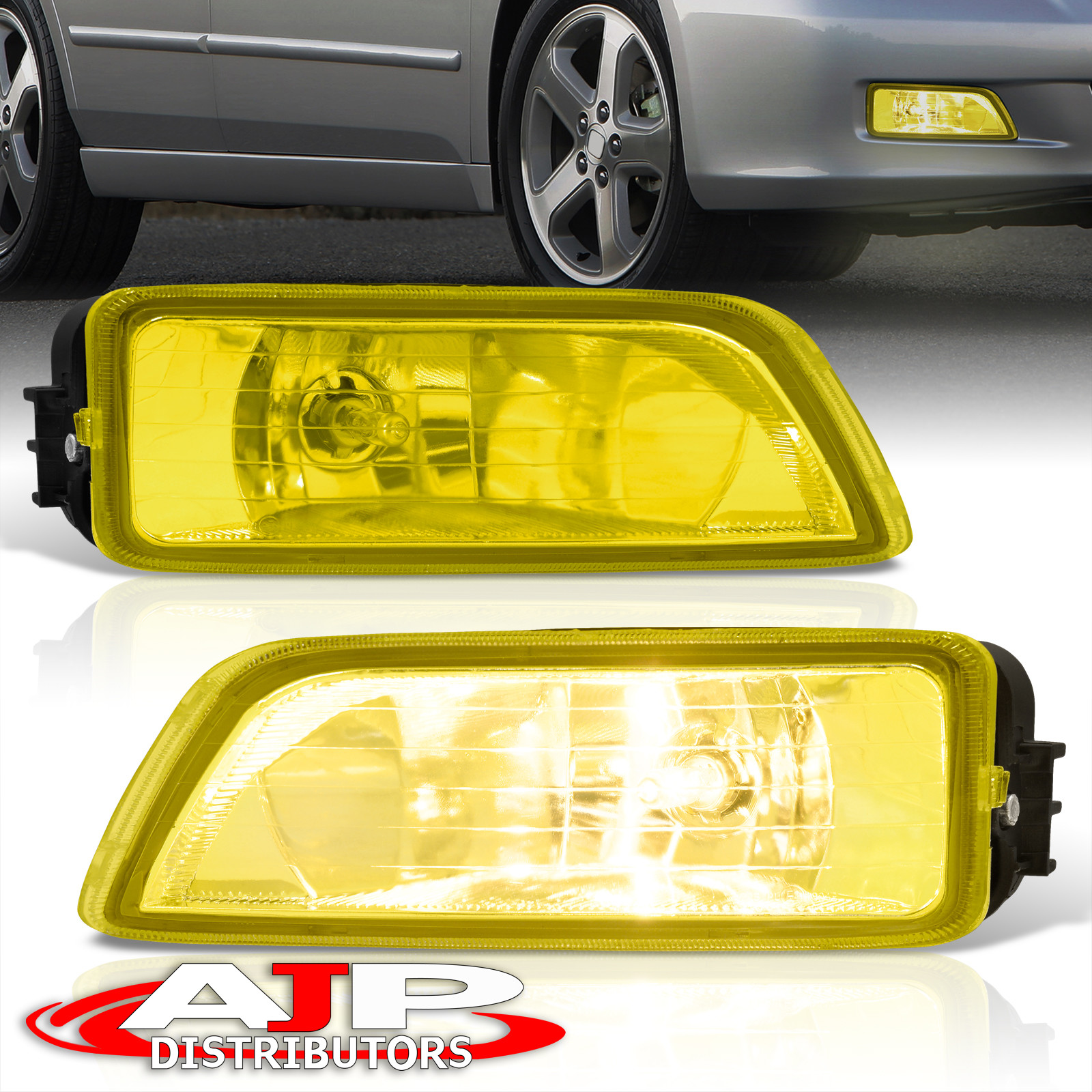 Amber Fog Lights Lamps + Wiring Switch For 2003-2007