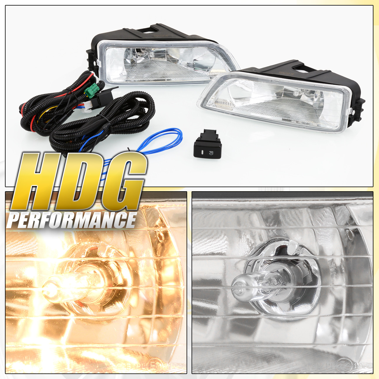 For 2004 2008 Acura Tl 2003 2007 Honda Accord Clear Fog Lights W Light Switch Diagram Wiring Kit