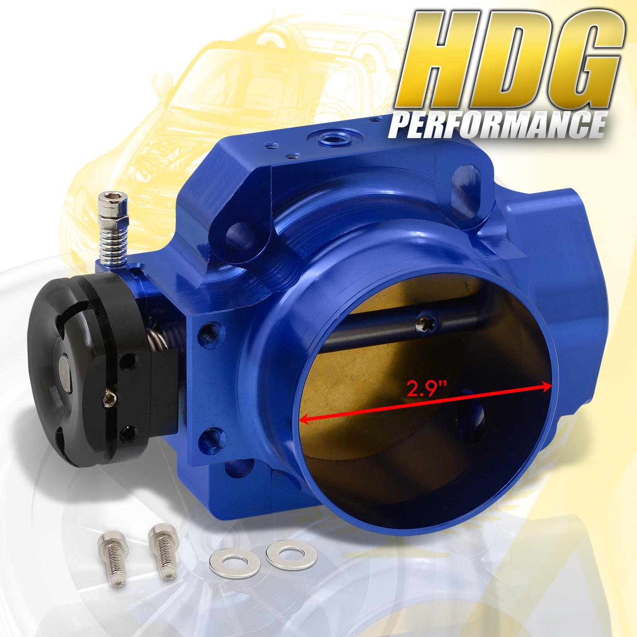 Blue Billet Aluminum Engine Throttle Body 70Mm For Honda