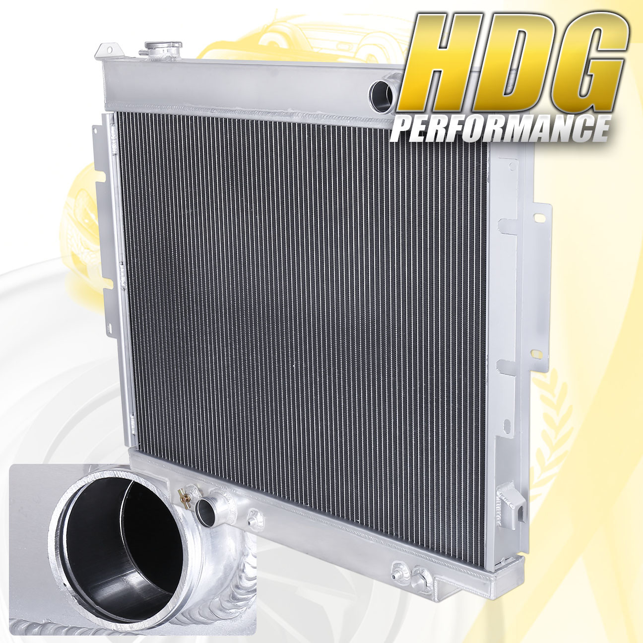 Aluminum Radiator For 1983-1994 Ford Pickup F250 F350 SuperDuty Diesel 6.9L//7.3L