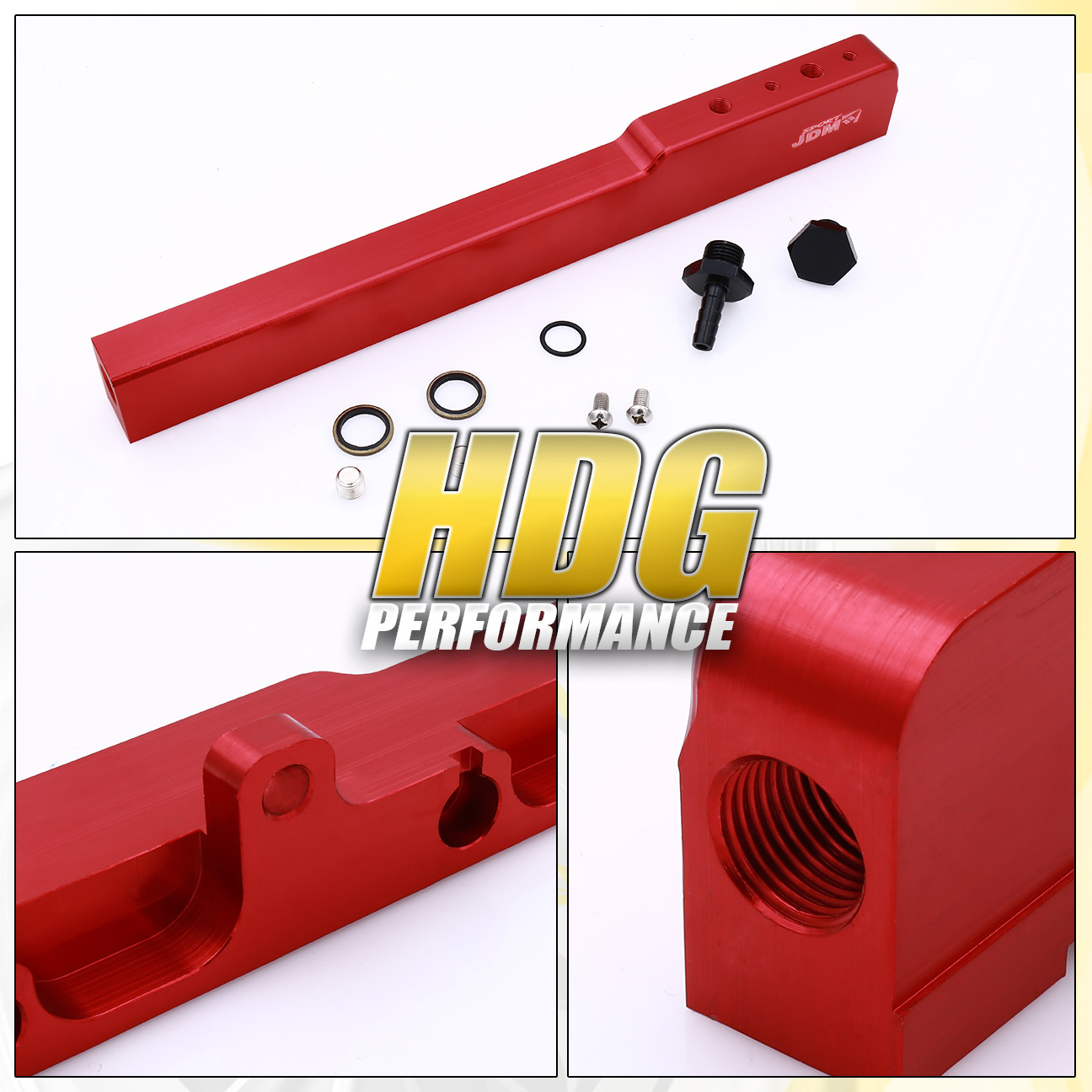 High Flow Fuel Injector Rail Kit Red For 02-06 Acura RSX