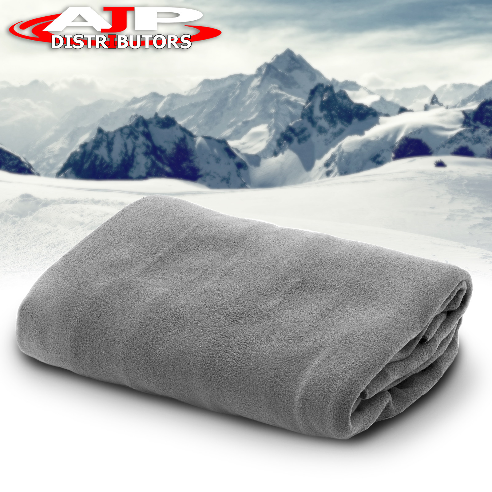 Details About 12v Heated Electric Fleece Gray Grey Cozy Blanket Automotive Car Truck Suv Van