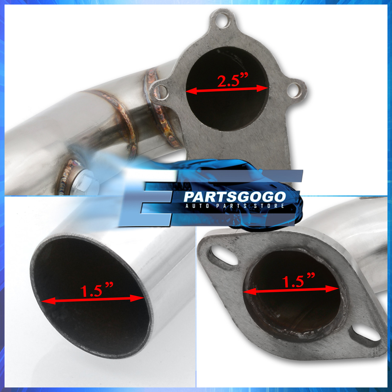 For 00-05 Mitsubishi Eclipse T3 Performance Racing Turbo Down Pipe 4G64 2.4L
