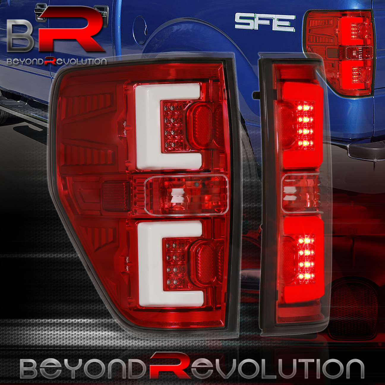 09 14 Ford F150 Xl Xlt Stx Black Housing Led Tail Lights G2 3rd Brake Light Auto Parts Accessories Auto Parts And Vehicles