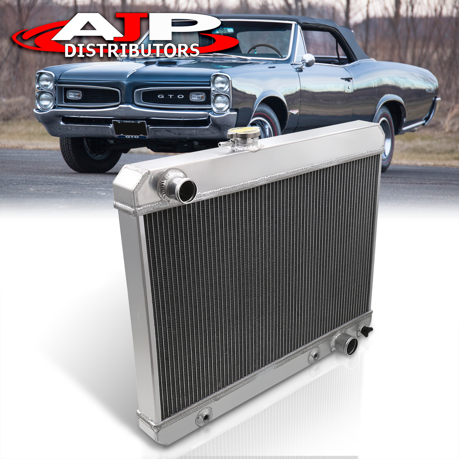 Aluminum Radiator Fit For 1965-1967 Pontiac GTO //Lemans//Tempest 1966 5.3L V8